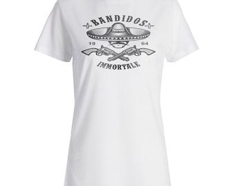 Bandidos Importale Skull Mexico Ladies T-shirt w521f