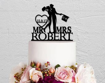 Wedding Cake Topper,Joker and Harley Quinn Cake Topper,Mr And Mrs Cake Topper,Custom Cake  Topper,Last Name Topper,Personalized Initials