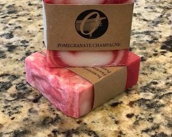 Pomegranate Champagne Artisan Bar Soap