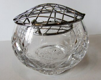 Stunning Vintage Cut Glass WIMPEY CENTENARY 1980 Rose Bowl.