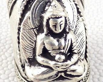 RING Tibetan Buddha man woman, Buddhist jewelry, Sakyamuni t us 9.5/13.5 ref abt6 60/70