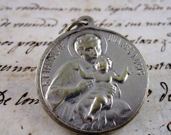 Large Saint Stanislaus of Kostka and Immaculate Conception Medal - Latin - Catholic Religious