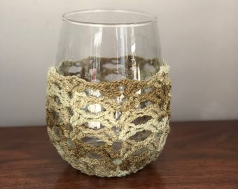 Wineglass Cozy - Green Multi