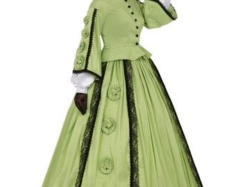 160233-4 Margaret Civil War Victorian Styled Gown