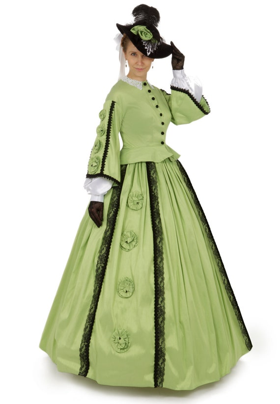 Victorian Dresses, Clothing: Patterns, Costumes, Custom Dresses Margaret Civil War Victorian Styled Gown $270.00 AT vintagedancer.com