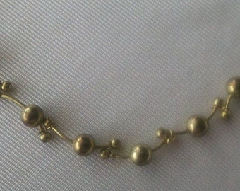 "Gold Tone 20"" Vintage Necklace"