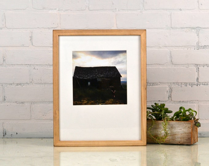 """11x14"""" Picture Frame in Peewee Style with Burnished Natural Poplar Finish - IN STOCK - Same Day Shipping - Handmade 11 x 14 Frame"""