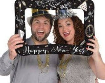 """23"""" New Years Eve Selfie/Photo booth inflatable frame. nye balloons. bye 2018. new years photo prop.  photo booth prop. new years eve party"""