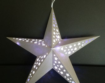 Large 3D hanging Star with stars........SVG, FCM & Mtc......Commercial Use