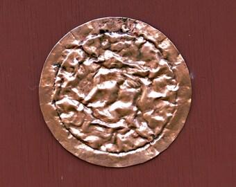 Copper Disc Wall Sculpture Small