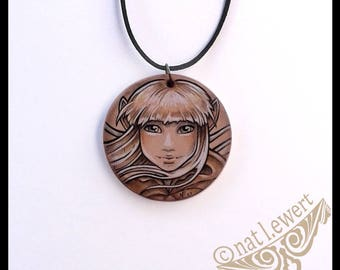 The Dark Crystal Jewelry Kira Necklace Dark Crystal Jewellery Gift Fairy Gift for Her Fairy Necklace Gothic Gift Gelfling Necklace 80s Film