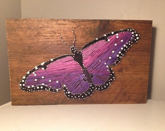 Butterfly Nail and String Art