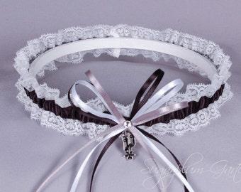 San Antonio Spurs Lace Wedding Garter