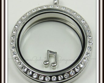 Music Notes Floating Charm for Glass locket / Floating Locket / Memory Locket