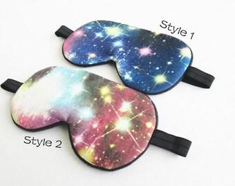 Galaxy Eye mask, Sleep mask, Travel Sleep mask, Eye Pillow, Slumber Party Sleep Mask.