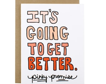 Thinking Of You Card - It's Going To Get Better Card - Pinky Promise Card