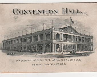 Kansas City Convention Hall Advertising Card