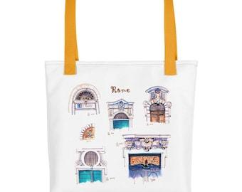 Roman Doors Rome Italy Tote Bag