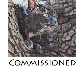Commissioned Pet Portraits 8x8 sample