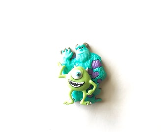 Mike and Sully Pin, Mike and Sully Badge, Tie Tack, Brooch, Monsters Inc., Backpack Buddy, Mike and Sully Hat Pin, Mike and Sully Brooch