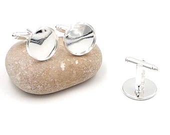 10 cabochons 16mm silver plate cuff links