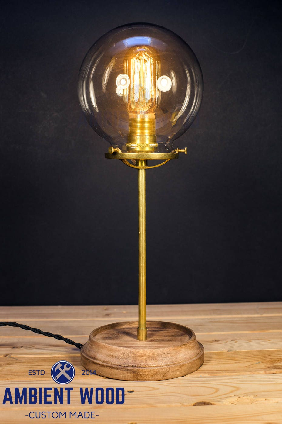 Table lamp glass shade wood base solid brass bulb light desk lamp table lamp glass shade wood base solid brass bulb light desk lamp edison brass light brass lamp glass fixture mozeypictures Image collections