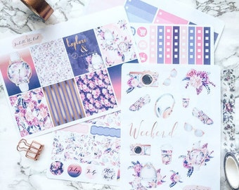 Happy Planner Travel With Me Weekly Kit Planner Stickers