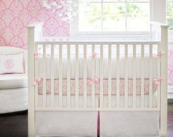 White Pique Baby Bedding Set