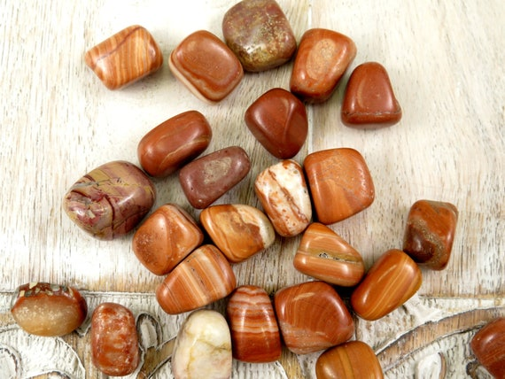Red Malachite Stone : Red malachite tumbled stones polished healing