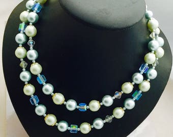 1950's Double Strand Blue Pearls
