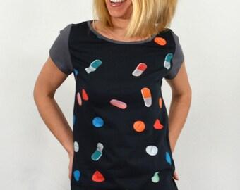 Pills on blouse.