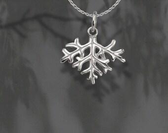 Australian Flannel Flower Leaf Pendants & Chain,Fine Silver,Handmade,Wildflower Pendants,Leaf,Gift for Her,Australian Pendants,Botanical
