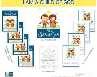 2018 Primary Sharing Time Bundle I am a child of God 2018 Primary theme LDS Child of God