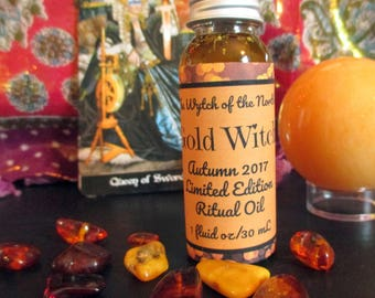 Gold Witch: Devotional Oil for Gullveig and Freyja - 100% Natural
