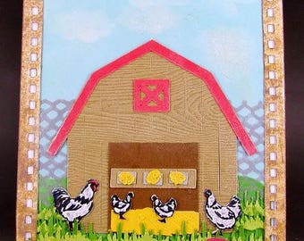 King of the Coop Card, Chicken Coop Card, Hen House Card