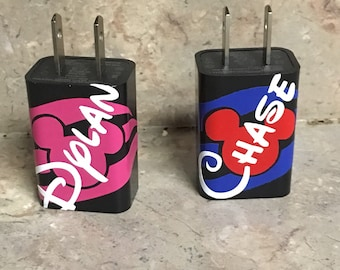 Free Shipping! Personalized FE gift cell phone plug charger pefect for teens!
