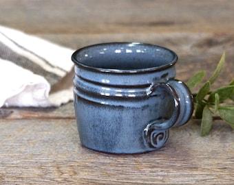 Espresso mug – Pottery long espresso cup, Coffee mug, Ceramic, Stoneware, Handmade, Wheel thrown