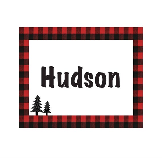 Personalized Swaddle Blanket Buffalo Plaid Red and White Custom Printed Stretch Blanket Name Buffalo Plaid Blanket Jersey Knit Blanket