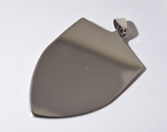 4 bouclier blancs - blancs de bouclier en acier inoxydable - estampage blancs pour gravure - estampage acier blancs - blancs en acier inoxydable - SS1310