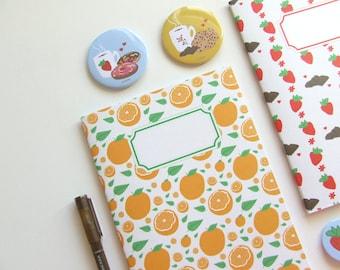 Orange Pattern Journal  - Blank A5 Notebooks