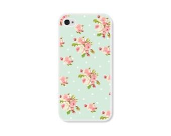 Floral iPhone 6 Plus Case Floral iPhone 6 Case Mint iPhone 5 Case Floral Flowers Samsung Galaxy S4 Case Mint iPhone 5c Case