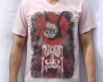 Rabbit in Your Headlights Design T shirt UNKLE