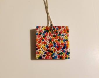 Resin necklace sprinkles fun unique