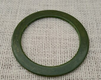 Olive Green Bakelite Spacer Bangle