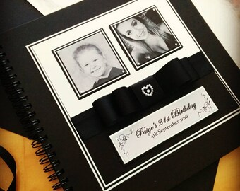 PERSONALISED GUEST BOOK, Weddings, Engagements, Birthdays, Baby Showers, Hens