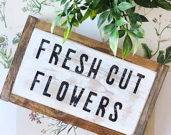 Distressed fresh cut flowers