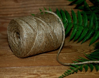 JUTE Twine - 294 feet of 100% Natural Jute Twine String -- 3 ply