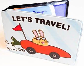 Let's Travel Carrot Car Travel Card Holder Oyster Card Bus Pass Train Wallet Cute Kawaii Fuzzballs Rabbit Bunny Driving Credit Card