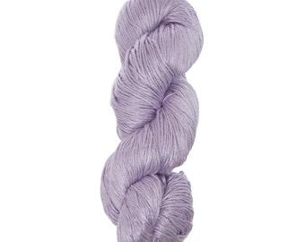 "Milk Yarn - DK/sock weight in ""Lavender Mist"""