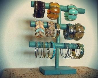 Spring Sales Event Rustic Bracelet Display, Bracelet Holder, Bracelet Storage, 3 Tier, Cuff holder